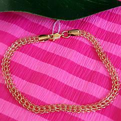 Золотой браслет Венеция - Браслет из золота плетение бисмарк Венеция