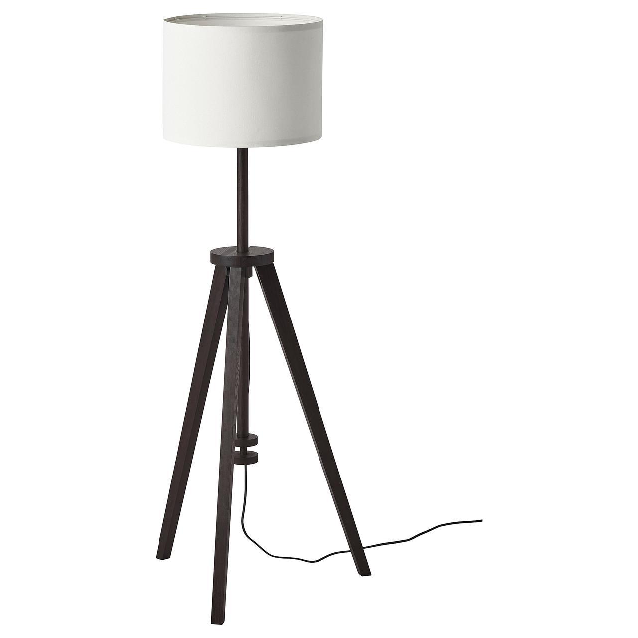 Торшер IKEA  LAUTERS коричневый ясень, белый 804.050.73
