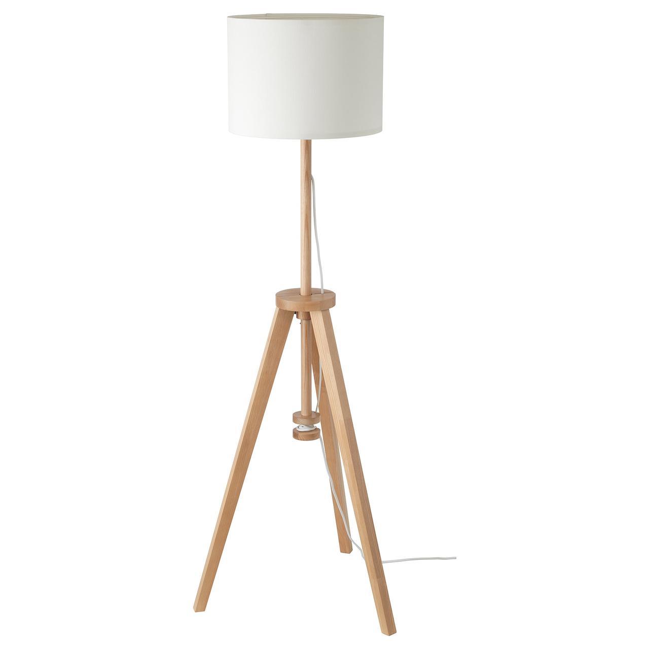 Торшер IKEA  LAUTERS ясень, белый 304.050.42