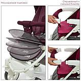 Детская всесезонная коляска трансформер El Camino. 3 положения спинки. Большой капюшон. ME 1011L ZETA, фото 6