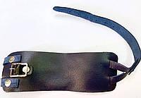 Напульсник кожаный на пряжке чёрный  (Украина)