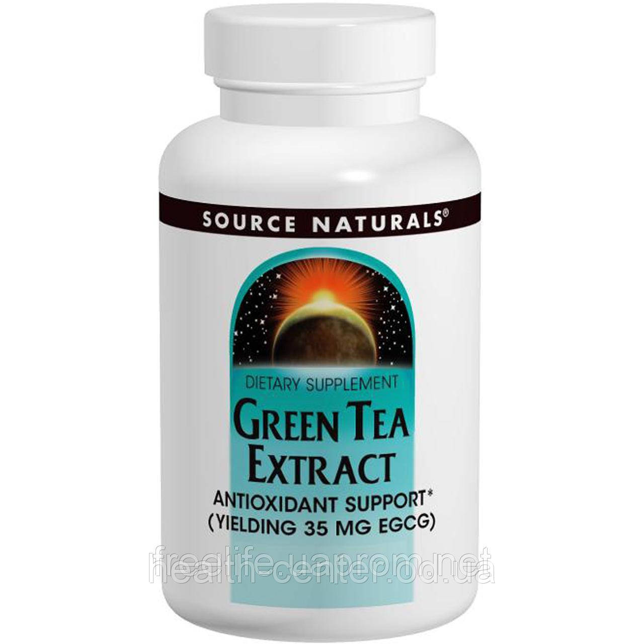 Экстракт зеленого чая 100 мг 60 таб (35 мг ЭГКГ) антиоксидант онкопротектор Source Naturals USA