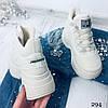 Ботинки кроссовки Fash/women демисезонные бежевые эко замша //, фото 2