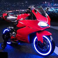 Детский Мотоцикл HONDA на аккумуляторе красный (синий, белый), кож. сидение, свет/звук,колеса EVA, M 4104 EL-3