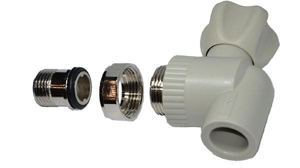 Шаровый кран для подключения радиатора в системах отопления угловой