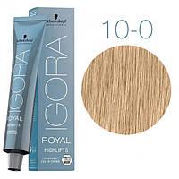 10-0 Краска для волос Schwarzkopf Professional Igora Royal Highlifts - Ультра блонд натуральный - 60 мл