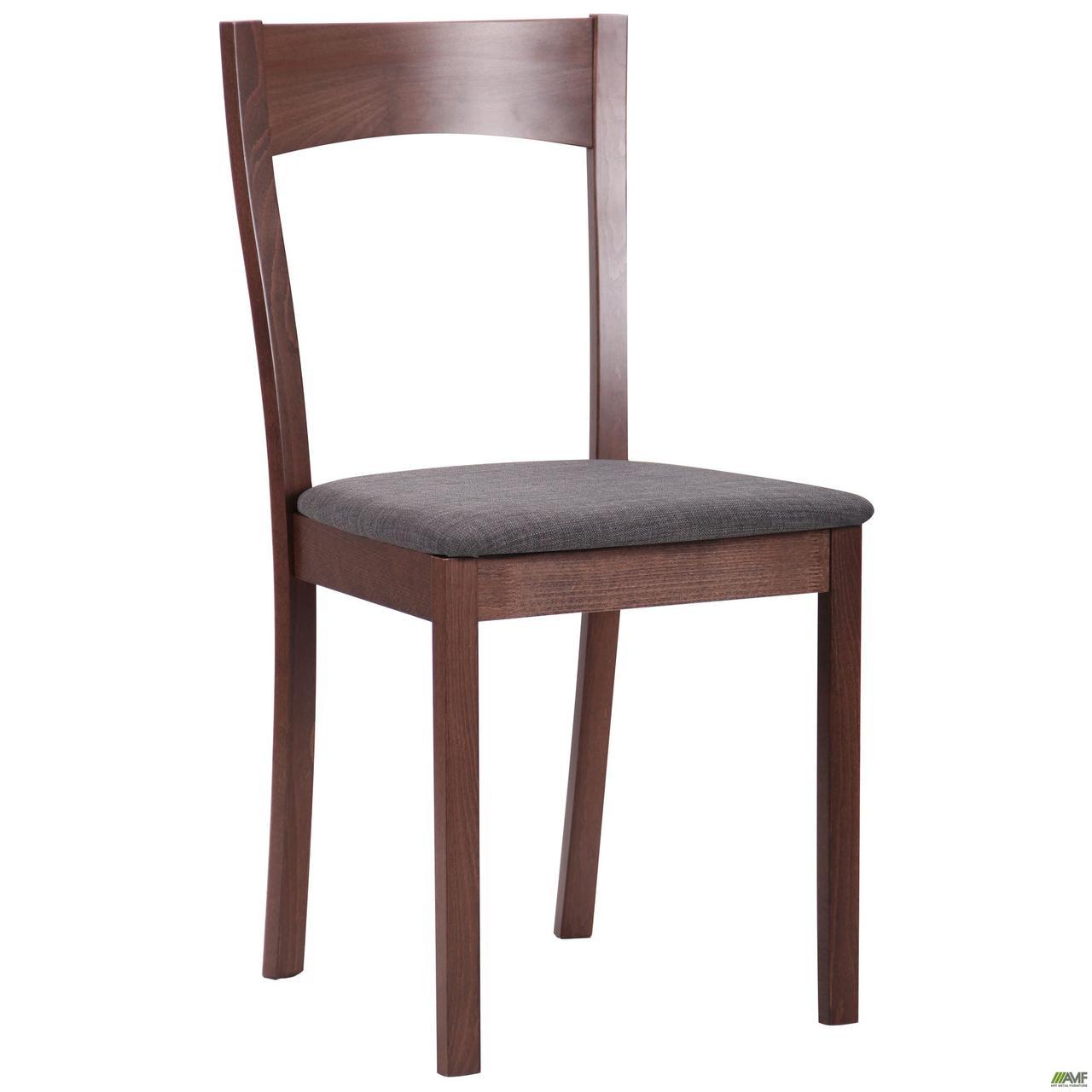 Деревянный стул АМФ Ричард, мягкое сидение светлый-графит