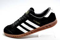 Кроссовки мужские в стиле Adidas Hamburg, Black\Черные