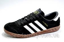 Кроссовки мужские в стиле Adidas Hamburg, Black\Черные, фото 2