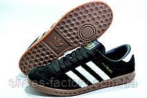 Кроссовки мужские в стиле Adidas Hamburg, Black\Черные, фото 3