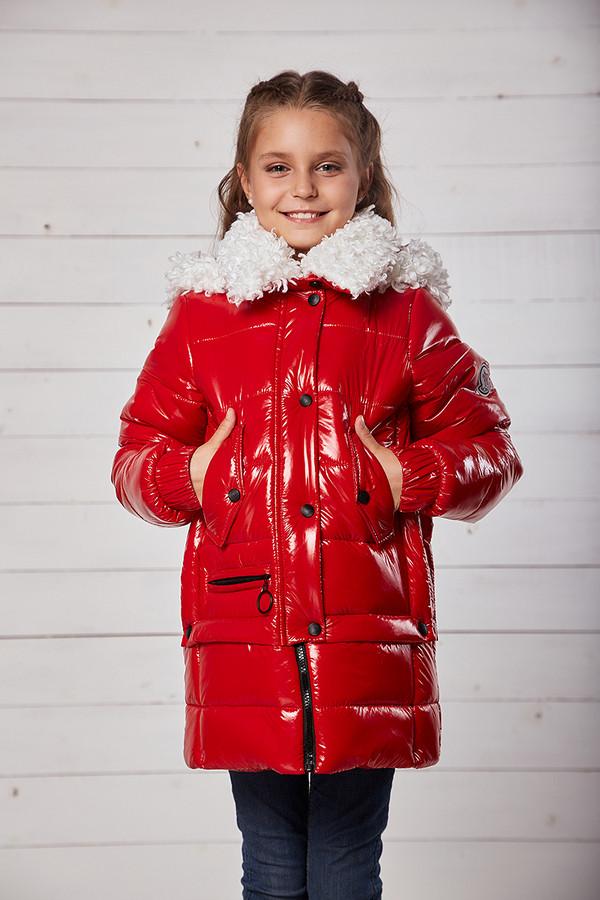 Куртка «Мила», красная, рост 134 - 158