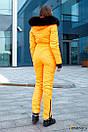 Женский неоновый зимний горнолыжный комбинезон с меховой опушкой 31gk32, фото 3