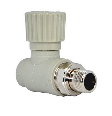 Прямой радиаторный вентиль для полипропиленовых систем