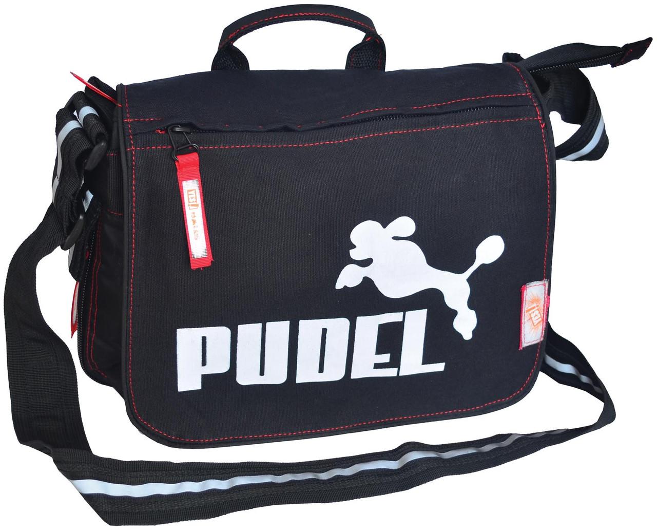 Молодежная сумка через плечо Pudel черная
