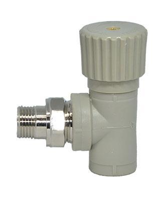 Угловой радиаторный вентиль для полипропиленовых систем отопления