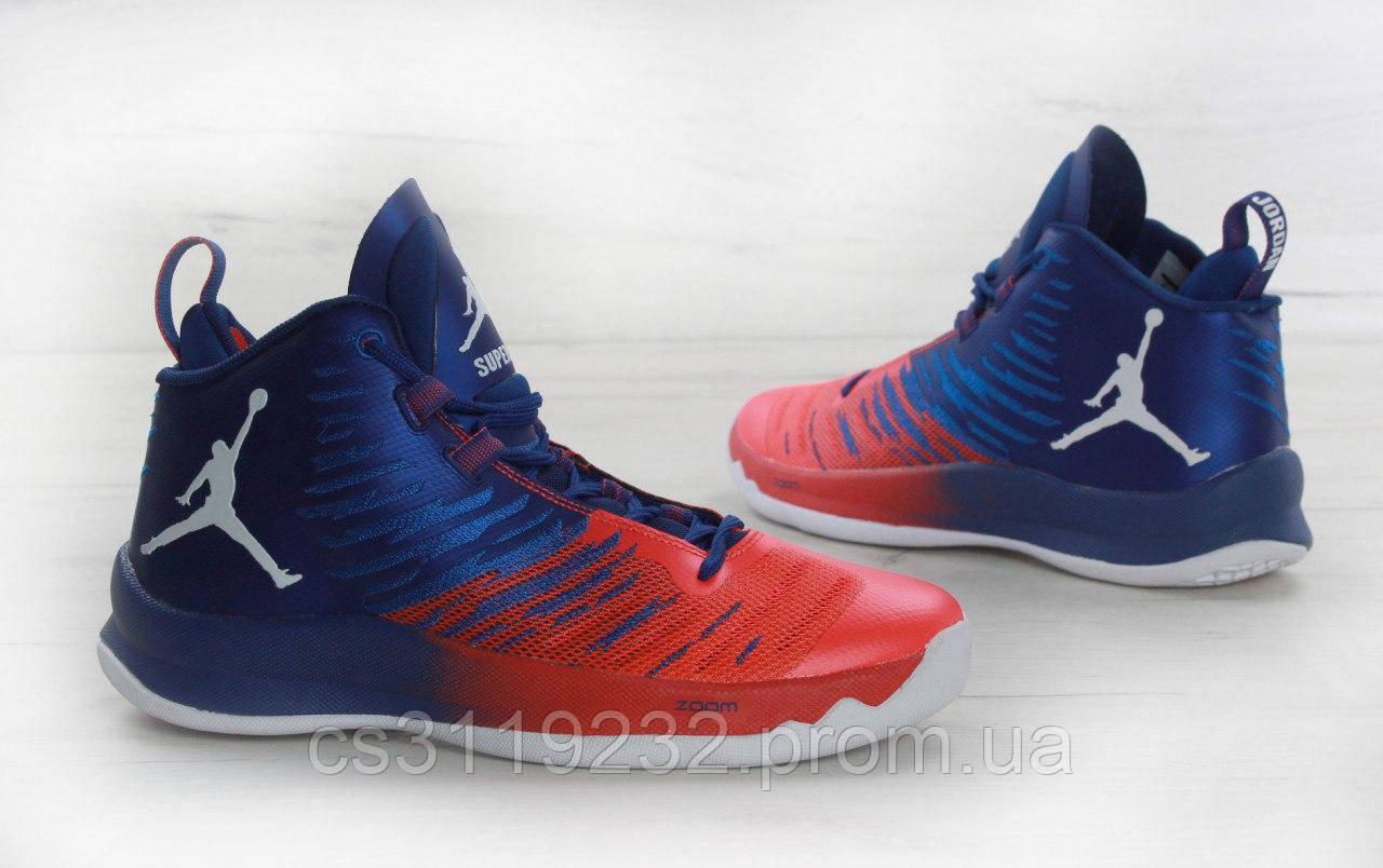 Мужские кроссовки Nike Air Jordan (красно-синие)
