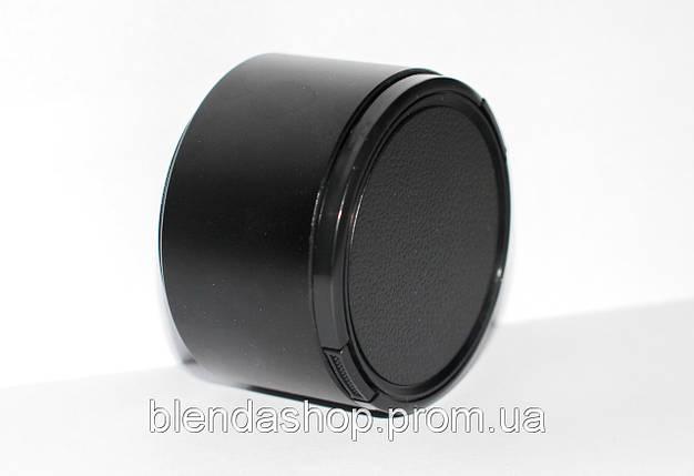 Универсальная длиннофокусная металлическая бленда 72 мм с крышкой, фото 2