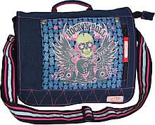Молодежная сумка через плечо Rock черная