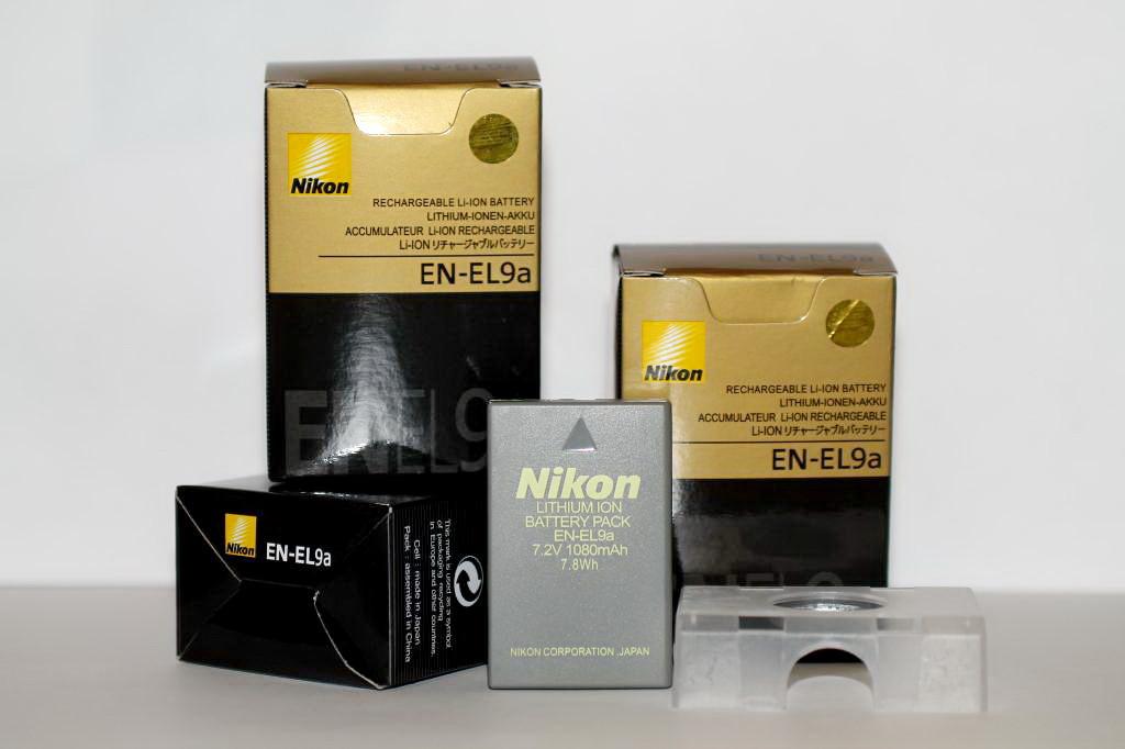 Аккумулятор EN-EL9a для фотоаппаратов NIKON D40, D60, D40x, D3000, D5000, D3x
