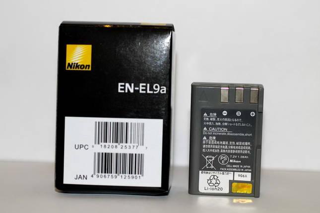 Аккумулятор EN-EL9a для фотоаппаратов NIKON D40, D60, D40x, D3000, D5000, D3x, фото 2