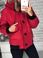 Женская куртка парка на меху и с капюшоном