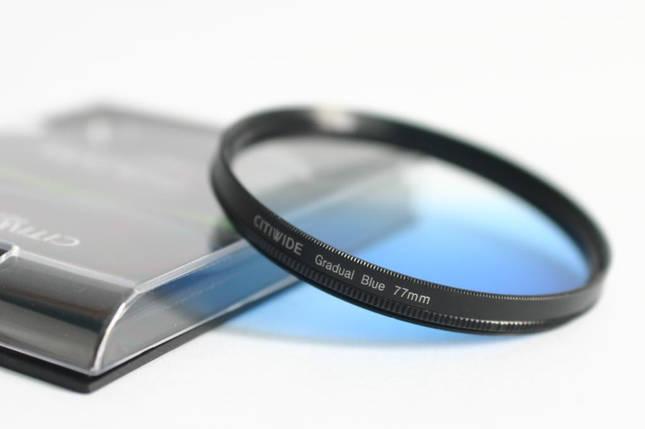 Градиентный светофильтр CITIWIDE blue 77 мм - голубой, фото 2