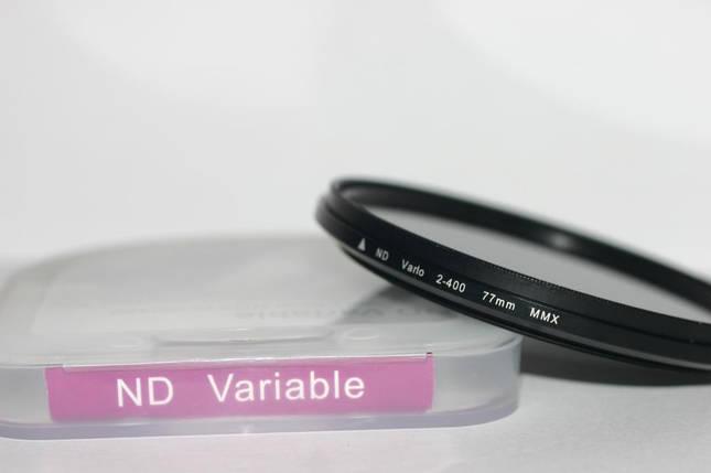 Нейтрально-серый светофильтр с переменной плотностью 77 мм ND2 - ND400, фото 2