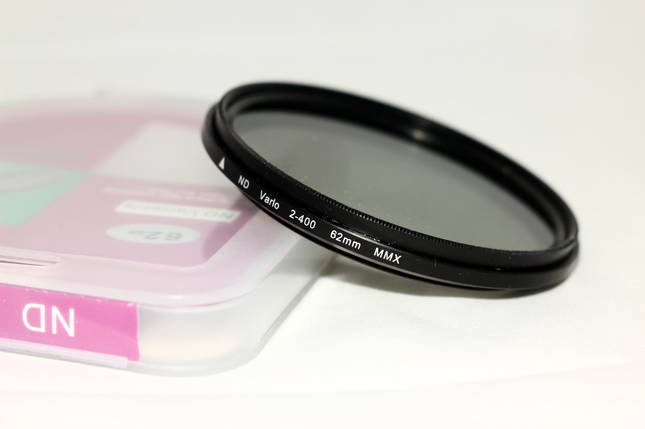 Нейтрально-серый светофильтр с переменной плотностью 62 мм ND2 - ND400, фото 2