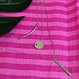 Тройное серебряное родированное колье - Колье минимализм серебро 925 пробы - Многослойное колье, фото 2