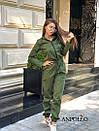 Женский спортивный комбинезон с манжетами и капюшоном с молнией спереди 17spt677, фото 3