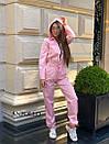 Женский спортивный комбинезон с манжетами и капюшоном с молнией спереди 17spt677, фото 5