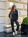 Женский спортивный комбинезон с манжетами и капюшоном с молнией спереди 17spt677, фото 8