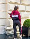 Спортивный женский комбинезон со свободным верхом и капюшоном 17spt678, фото 4