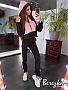 Спортивный женский костюм с худи и зауженными штанами 66spt681E, фото 4