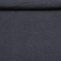 Трикотажное полотно рибана кашкорсе хб/эл пенье, темно-синий