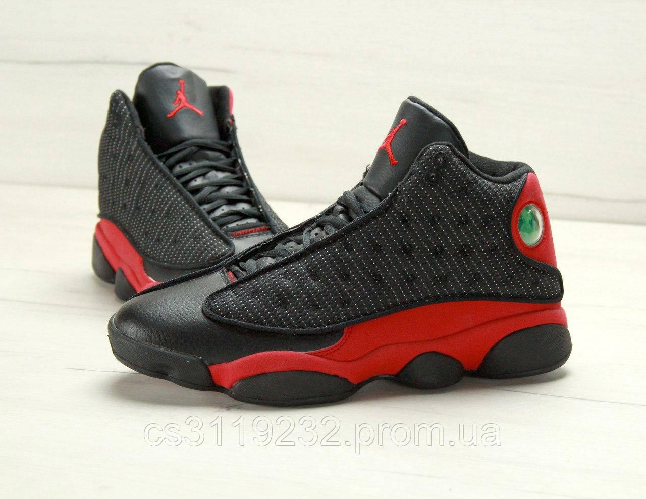 Мужские кроссовки Nike Air Jordan (черно-красные)