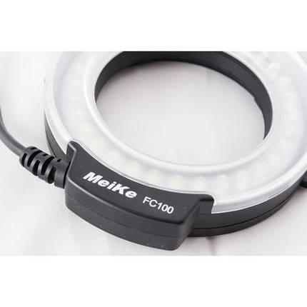 Кольцевая LED макровспышка MeiKe FC-100 (FC100) для камер OLYMPUS, фото 2
