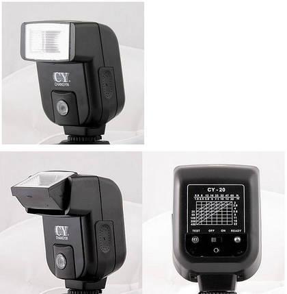 Компактная вспышка для фотоаппаратов PANASONIC - YinYan CY-20, фото 2