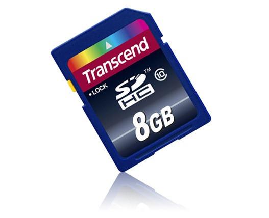 Карта памяти Transcend SD HC 8 GB  (10 Class)