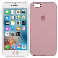 Оригинальный силиконовый чехол для iPhone 6/6s, Светло-Розовый