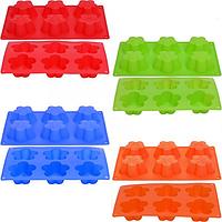 Форма силиконовая тарталетки Цветы 6 шт ск5-7015