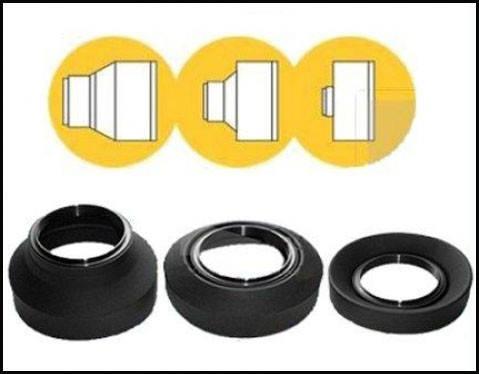 Универсальная резиновая бленда 58 мм - складная 3 в 1, фото 2