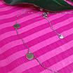 Серебряное колье с монетками - Колье минимализм Монетки серебро родированное, фото 4
