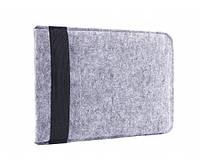Конверт для ноутбука Gmakin Felt Cover for Macbook 15 Light Grey (GM16-15)