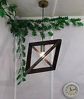 Подвесной светильник из первосортного дерева, треугольная форма, современный стиль, натуральное дерево, loft