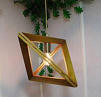 Подвесной светильник из первосортного дерева, треугольная форма, современный стиль, натуральное дерево, loft, фото 1