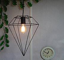 """Подвесной металлический светильник, современный стиль, loft, vintage, modern style """"CRYSTAL"""" Е27  черный цвет"""