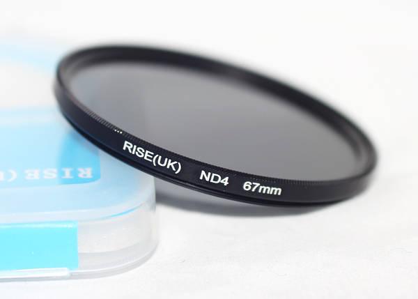 Нейтрально-сірий світлофільтр RISE (UK) 67 мм ND4, фото 2