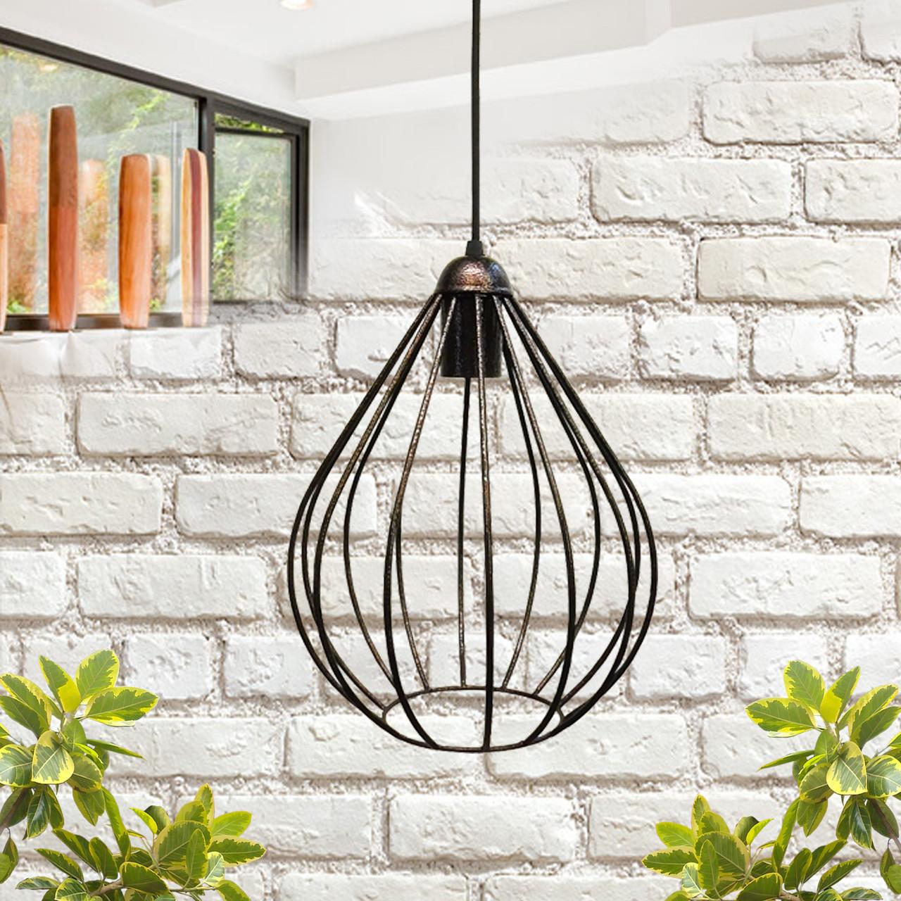 """Подвесной металлический светильник, современный стиль, loft, vintage, modern style """"KAPLIA-BE"""" Е27 цвет бронза"""