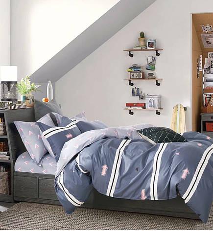 Полуторный комплект постельного белья 150*220 сатин (12421) TM КРИСПОЛ Украина, фото 2